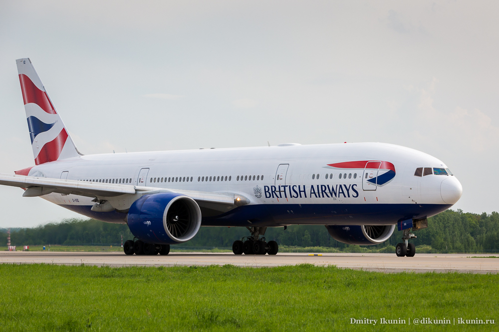 Boeing 777-200ER (G-VIIG). British Airways