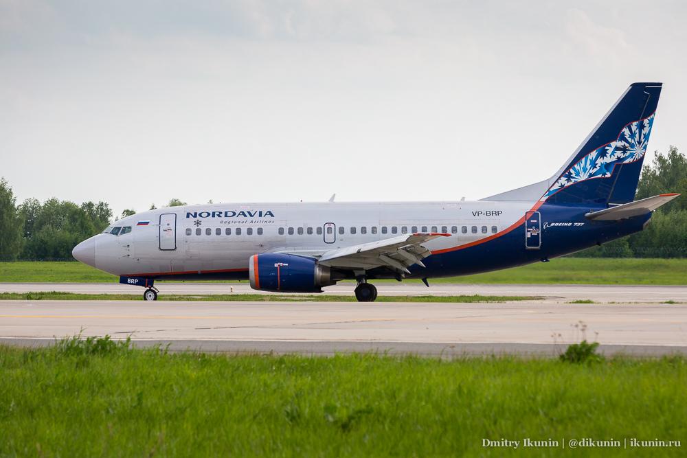 Boeing 737-500 (VP-BRP). Nordavia