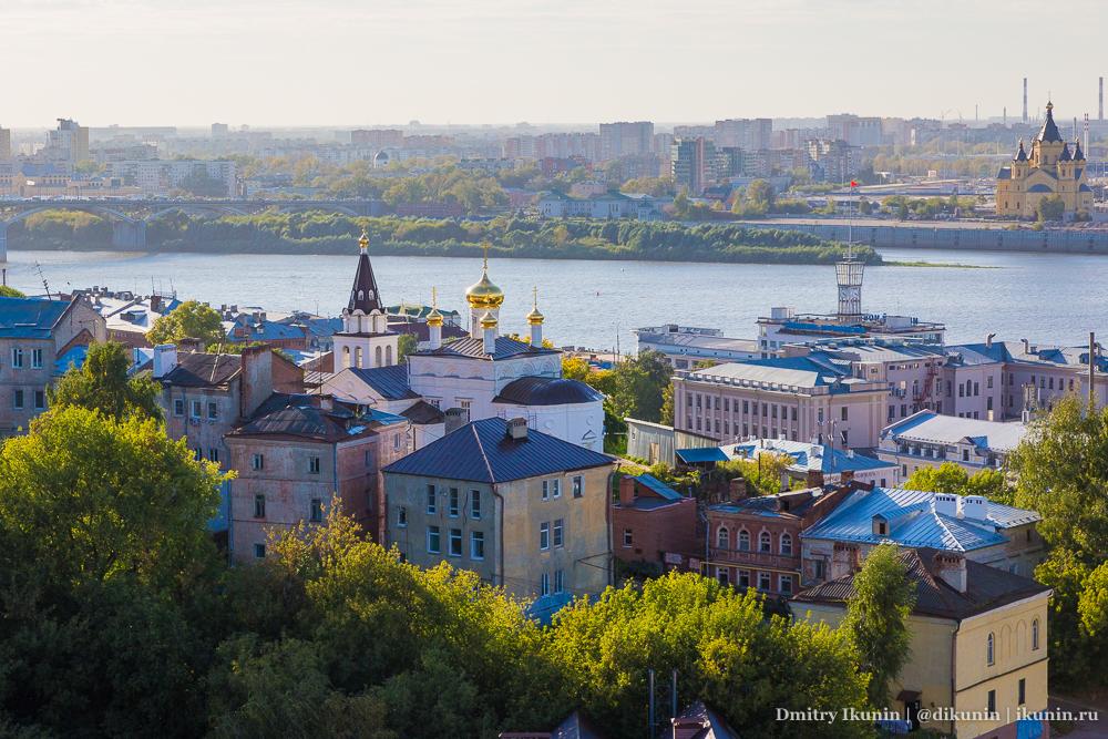 Вид из Нижегородского кремля