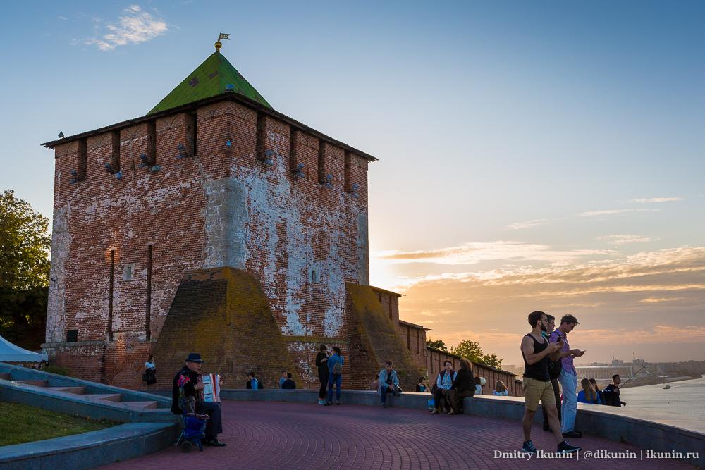 Нижегородский кремль на закате